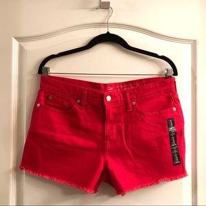 Gap Red Sexy Boyfriend Shorts sz 6R